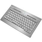 [KB006U-S] ヘアライン加工のアルミフレームボディを採用した日本語86キーボード (シルバー)。市場想定価格は11,000円前後