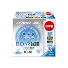 [BV-R260FW10] インクジェットプリンター対応ホワイトレーベルを採用した4倍速記録対応録画用BD-R DL10枚パック(厚さ5mmスリムケース)。価格はオープン
