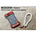 TUNEWEAR × Roberu iPhone 4S/4 Outer Leather Cover for eggshell