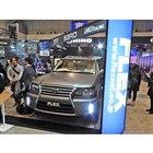 「FLEX Limousine Ver.LAND CRUISER×HIROMI」。会場はFLEX本体の会場とは別に準備された