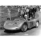 1958年の欧州ヒルクライム選手権をポルシェにもたらした「718RSKスパイダー」。142psを発生する4カムの1.5リッター空冷フラット4をミドシップしていた。