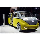 コンセプトカー「I.D. Buzz」は、今回のショーで特に注目を集めたクルマの一台だった。