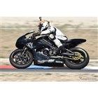 Moto2プロトタイプマシンに試乗(ライダー:佐川健太郎)