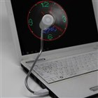 LED 時計&温度計 USB扇風機 er1007