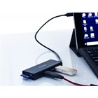 「DN-915436 Type-C接続 USB 3.0カードリーダー&USBハブ」