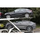 BMW X6 新型(下)とX4(上)。サイズの違いがよくわかる