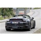 ポルシェ 911 ターボカブリオレ 新型スクープ写真
