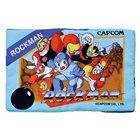 「ロックマン」ゲームソフトのパッケージを再現したクッション