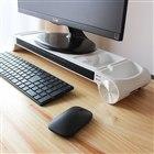 サンコー、パソコンの手元を温める「ヒーター付モニター台」
