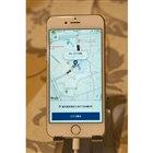 タクシー配車アプリ「MOV」の操作画面。
