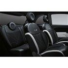 「500Sマヌアーレ」では、専用デザインのファブリックシートが採用されている。