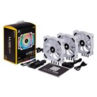 LL120 RGB White 3Fan Pack with Lighting Node PRO