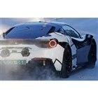 フェラーリ新型V6ハイブリッドのテスト車両(スクープ写真)