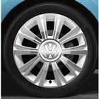 VW spice up! (ティールブルー)専用16インチアルミホイール(ホワイトセンターカバー付:10スポーク)