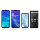「HUAWEI nova lite 3」「ZenFone Max Pro(M2)(ZB631KL)」「AQUOS R2 compact SH-M09」「BlackBerry KEY2」