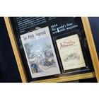 世界初の自動車雑誌「La Locomotion Automobile」(右)。世界初の自動車競...