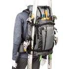 「BackLight Elite 45L」スキー板取り付けイメージ