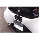 車体後部には、普通充電と急速充電、2種類の充電口が備わる。