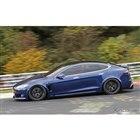 テスラ モデルS Plaid 開発車両(スクープ写真)