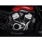 新開発の「レボリューションマックス」エンジン。今回、排気量の異なる2タイプが発表された。