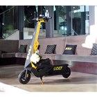 ボルト・モビリティーが提供する電動キックボード「ボルト・チャリオット」。一充電あたりの走行距離...