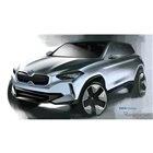 BMW コンセプト iX3 のデザインスケッチ