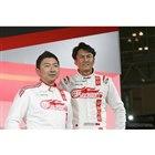 GOODSMILE RACING & TeamUKYOの谷口信輝選手(右)と片岡龍也選手(左)