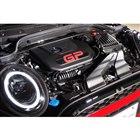 MINIシリーズ最強の2リッターターボエンジン。カバーには「GP」ロゴが添えられる。