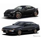 トヨタ 86 GTブラックリミテッド(上)とAE86型スプリンタートレノ 特別仕様車 GT APEXブラックリミテッド
