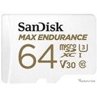 サンディスクMAX ENDURANCE高耐久マイクロSDカード/64GB