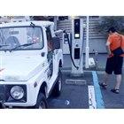 2020年7月12日18時58分、クロカン四駆の電気自動車が、日本で初めてCHAdeMO急速充電器からの充電に成功した瞬間。