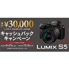 LUMIX S5 キャッシュバックキャンペーン
