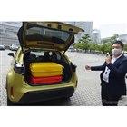 トヨタ ヤリスクロスは110リットルのスーツケースが2個搭載可能
