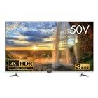 「4K/HDR対応50V型液晶テレビ GH-TV50CGE-BK」