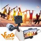 「VLOG スターターキット γガンマ(ホルダー・LEDライト・Lブラケットマウント・マイク)」