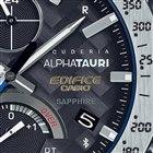 文字盤の盤面には、F1マシンのパーツにも使われている6Kカーボンが織り込まれている。