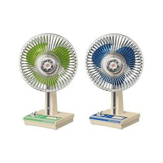 懐かしのレトロ扇風機を全高17cmで再現、首振り機能やタイマー機能付き