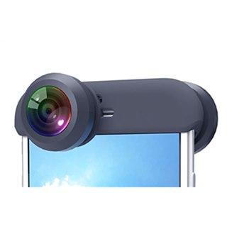 周囲360度をワンショットで撮影、iPhone用レンズ「ぐるっ撮360°」
