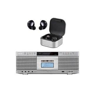 東芝、Bluetooth送受信対応CDラジカセと完全ワイヤレスイヤホンの2機種を発表