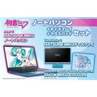 ツクモ、「初音ミク」コラボの14型ノートPC+23.8型液晶セットを特別価格で販売