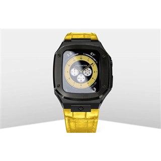 99,000円、高級Apple Watchケースにイエローストラップ採用の「SP44 BLK/YEL」