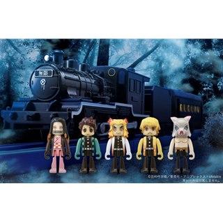 「鬼滅の刃」無限列車がプラレールに、鬼殺隊と禰豆子のプラキッズ5体がセット
