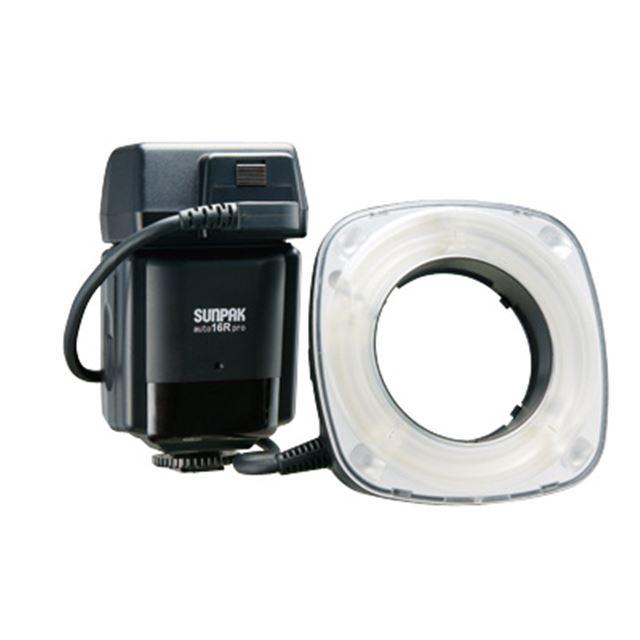 [auto 16R pro] 近接撮影用から人物撮影まで幅広い用途で利用できるマクロリングストロボ(ガイドナンバー16)