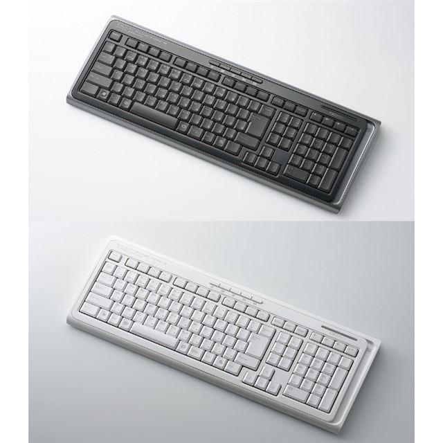 [TK-FDP001BK/WH] 2.4GHz帯DS-SS方式のワイヤレス日本語108キーボード (ブラック/ホワイト)