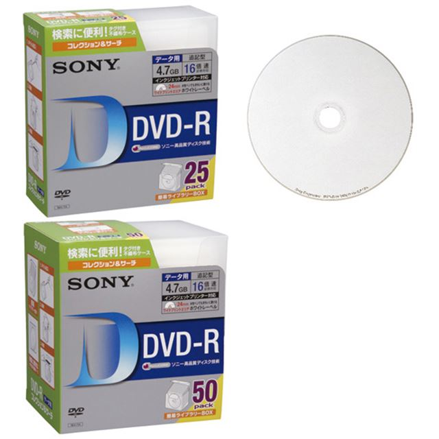 [25DMR47HPCK/50DMR47HPCK] AccuCOREを採用した16倍速データ用DVD-Rメディア