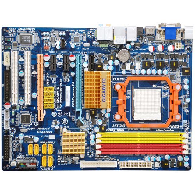 [GA-MA78G-DS3H] 「AMD780G/SB700」を搭載したATXマザーボード。市場想定価格は14,700円前後
