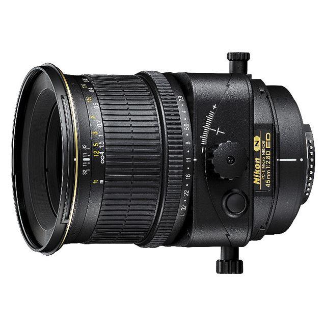 [PC-E Micro NIKKOR 45mm F2.8D ED] EDレンズを採用したアオリ撮影が可能な標準単焦点レンズ(最短撮影距離0.253m)。価格は315,000円(税込)