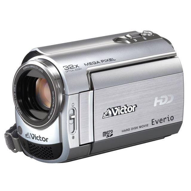 [GZ-MG360] 光学32倍ズームレンズを備えた薄型HDD/SDHCビデオカメラ(60GB/シルバー)。価格はオープン