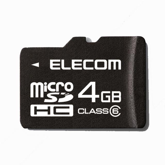 [MF-MRSDH04GC4W] JIS防水保護等級7(IPX7)に準拠した防水機能やSDスピードクラス「Class4」に対応したmicroSDHCカード(4GB)。価格はオープン