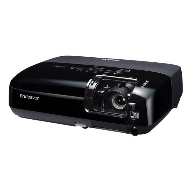 [Endeavor EB-S6] 輝度2200lm/USBケーブル接続/1Wモノラルスピーカーを備えたモバイルプロジェクター(SXGA+対応)。価格は59,800円(税込)